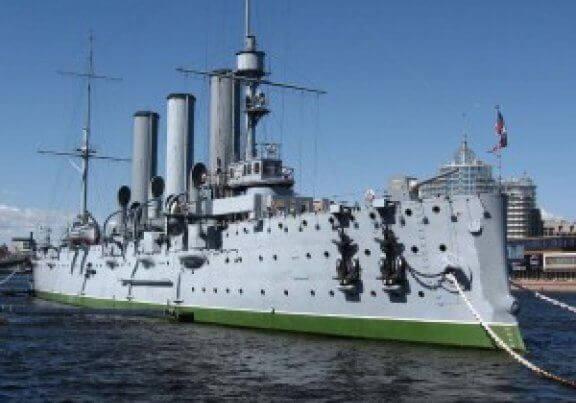 Cruiser Aurora in St Petersburg - The Symbol of Russian Revolution 1917
