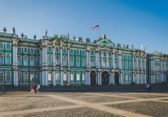 Winter Palace and Palace Square in St Petersburg - Russia
